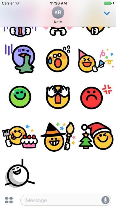点击获取Smiley face Sticker 1