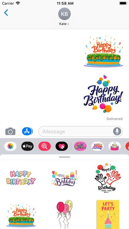 100+ Happy Birthday Stickers screenshot-8
