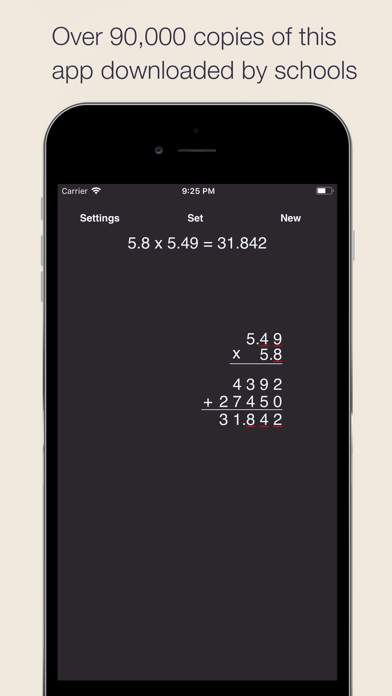 Long Multiplication Screenshots
