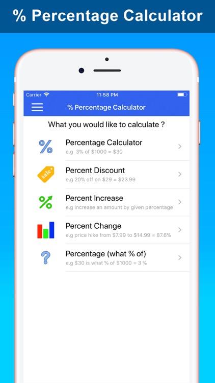 % Percentage Calculator Pro screenshot-0