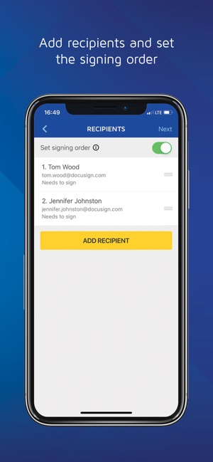 DocuSign - Upload & Sign Docs on the App Store