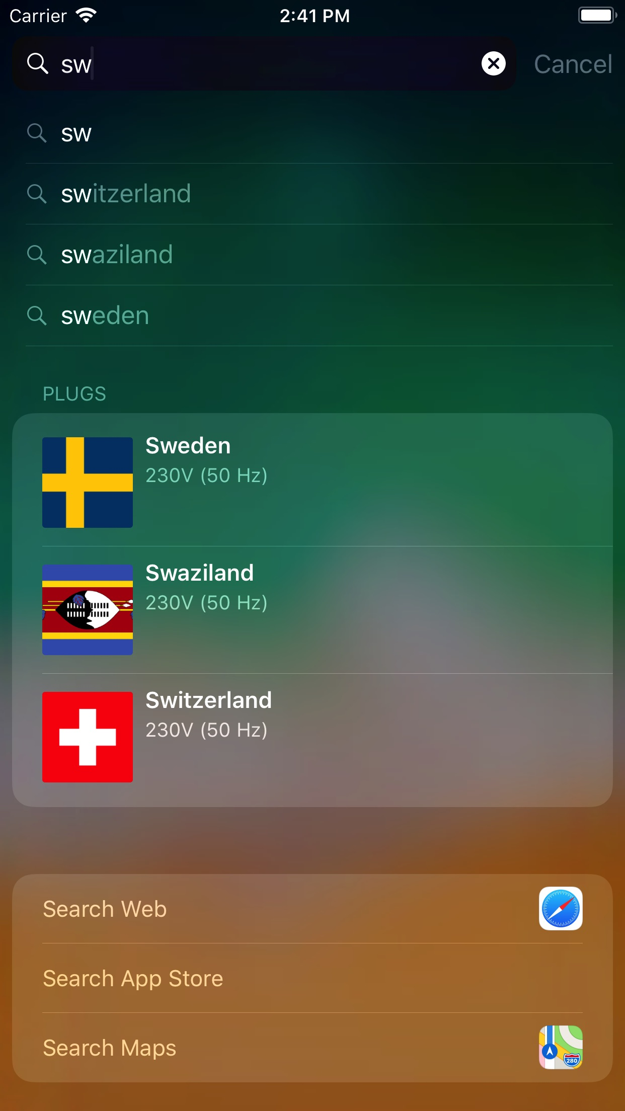 Screenshot do app Plugs of the World