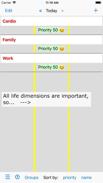 Activities and Priorities screenshot-0
