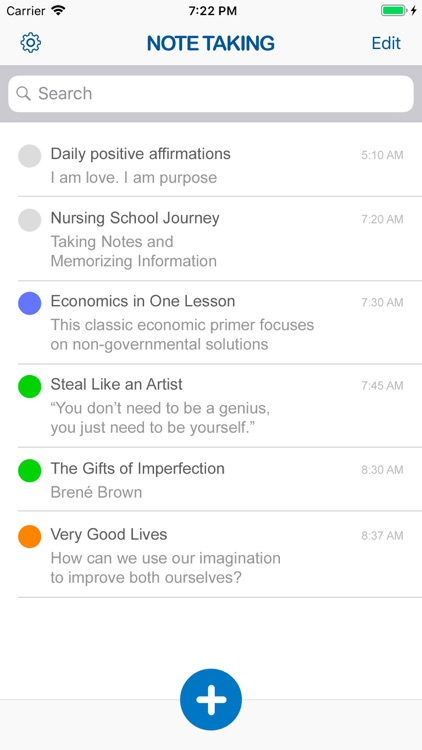 Note Taking Writing App