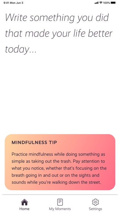 Moments - Daily Mindfulness