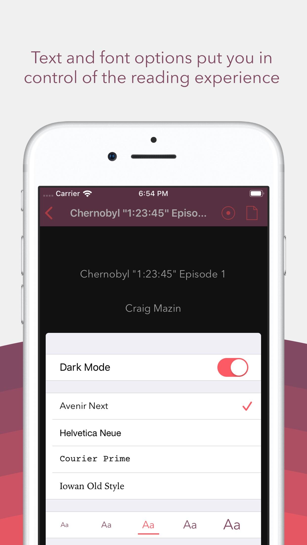 Screenshot do app Weekend Read