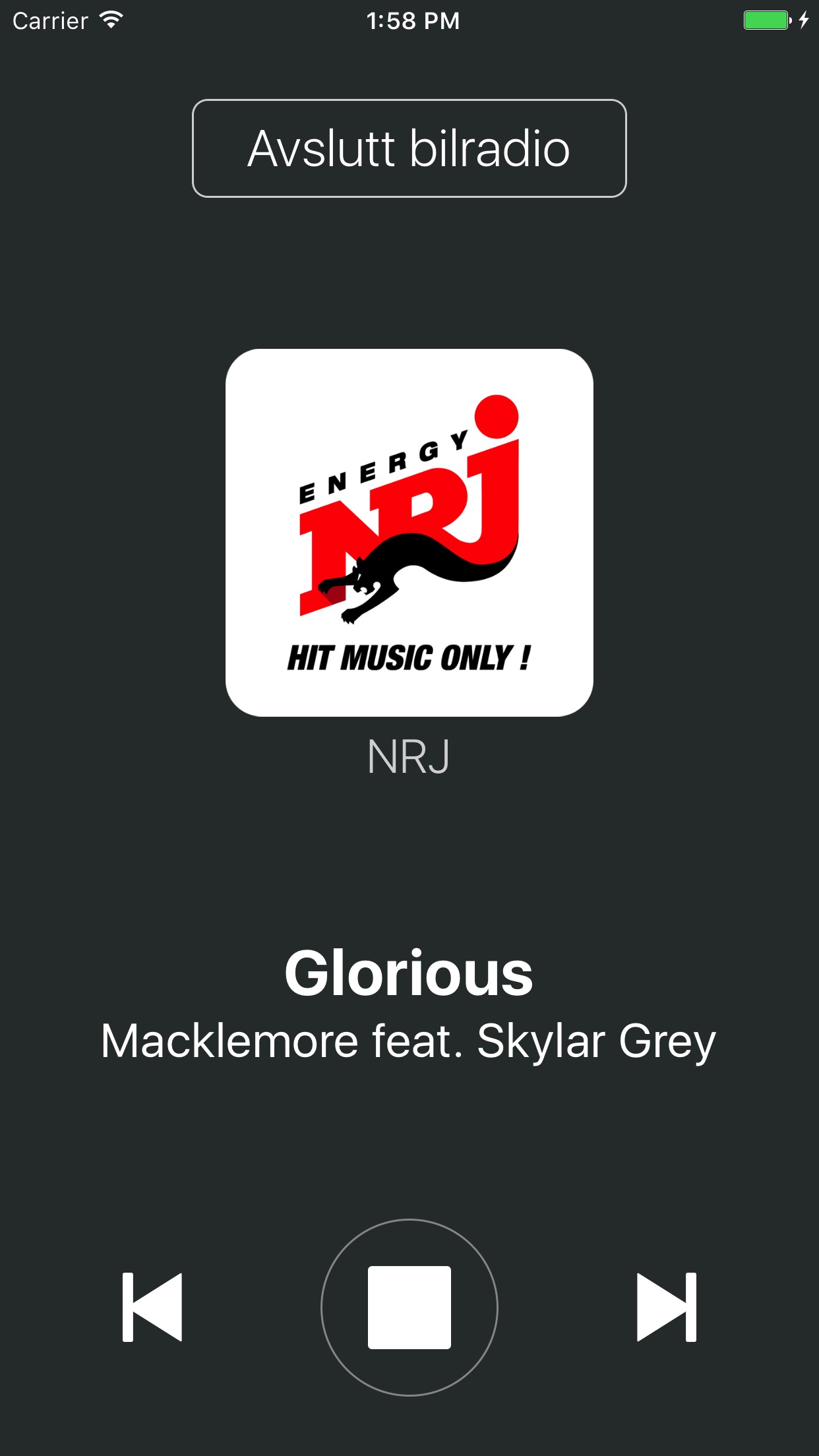 NRJ Norge Screenshot