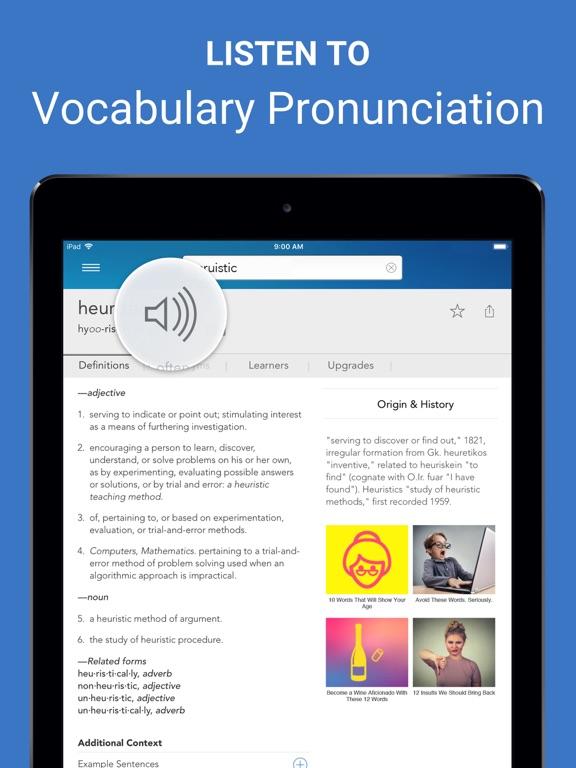 Dictionary.com for iPad Screenshot 3