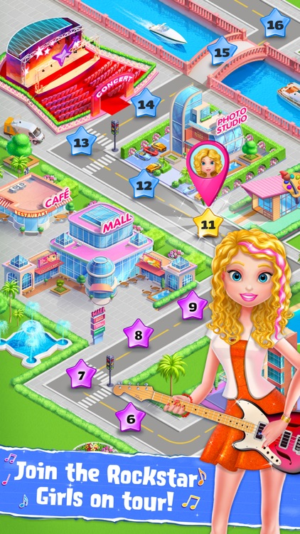 Rockstar Girls Adventure Game screenshot-4