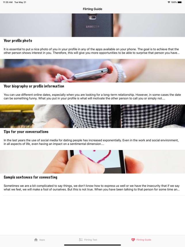 Ứng dụng hẹn hò, Tán tỉnh&Chat