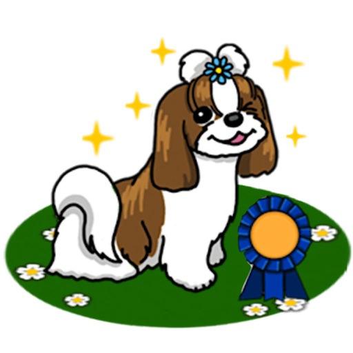 Sweet Shih Tzu Dog Sticker