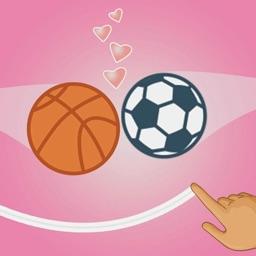 Draw Love Balls