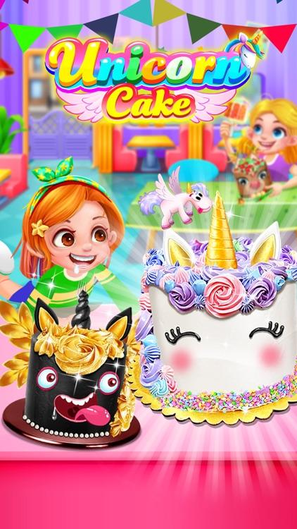 Unicorn Food - Rainbow Cake screenshot-5