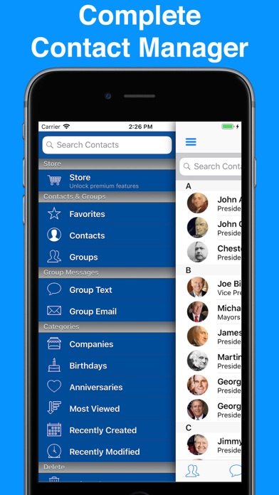 A2Z Contacts - Group Text App screenshot one