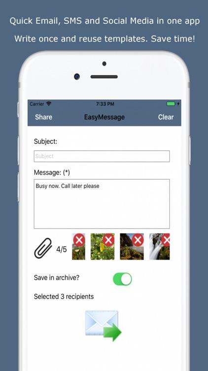 Easy Message - Group Bulk Text screenshot-0
