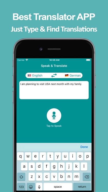 Speak & Translate APP screenshot-7