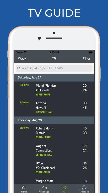 Florida Football Schedules screenshot-6