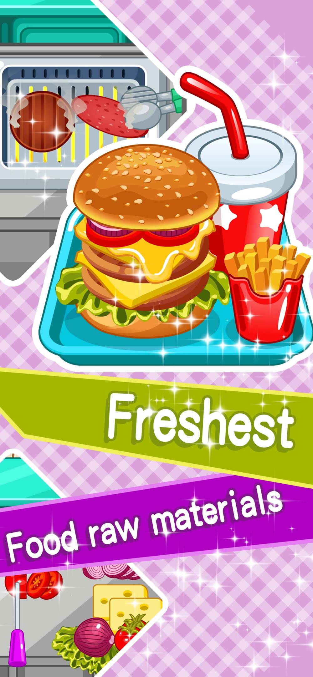 Make hamburgers -Cooking games Cheat Codes
