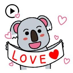 Animated Playful Koala Sticker