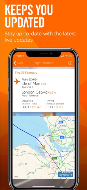 easyJet: Travel App Screenshot
