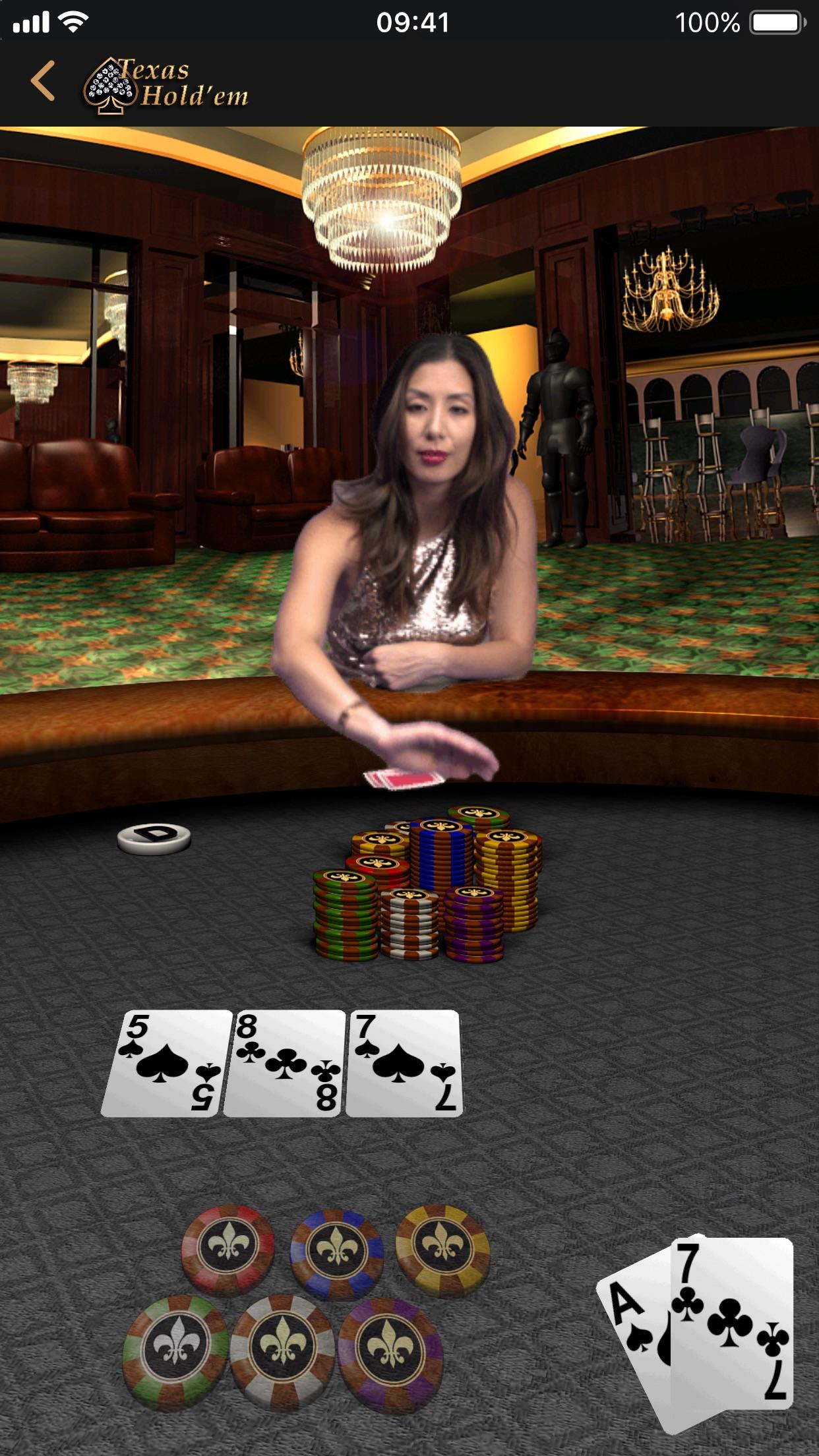 Screenshot do app Texas Hold'em