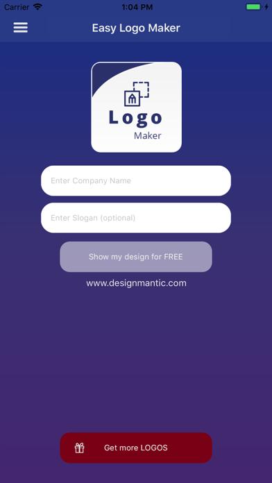 Easy Logo Maker - DesignMantic screenshot one