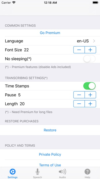 Voice Notebook - audio to text screenshot one