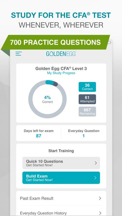 Golden Egg CFA® Exam Level 3 - App - Apps Store