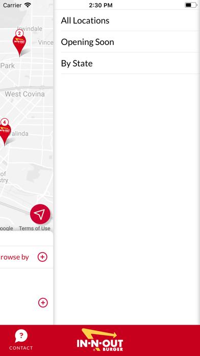 In-N-Out Locator Screenshot