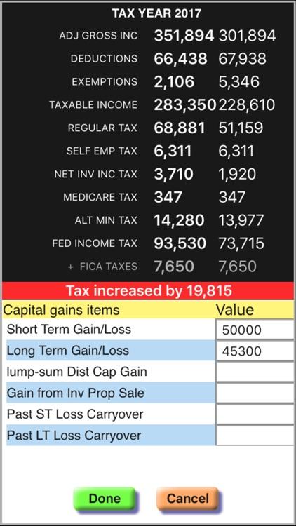 Income Tax Calculator: TaxMode screenshot-3
