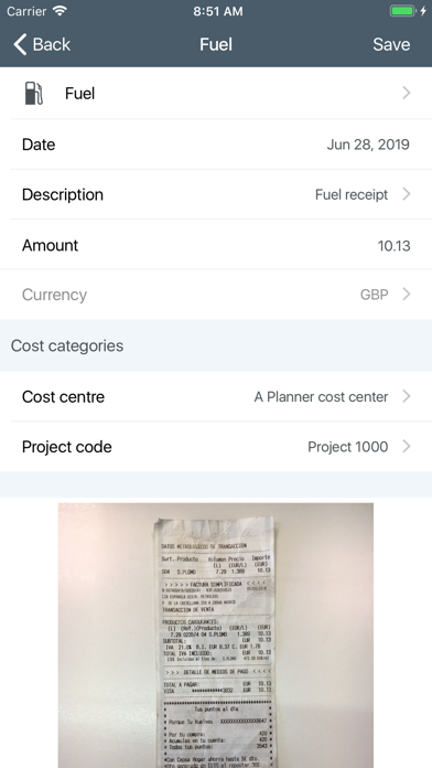Unit4 Expenses screenshot two