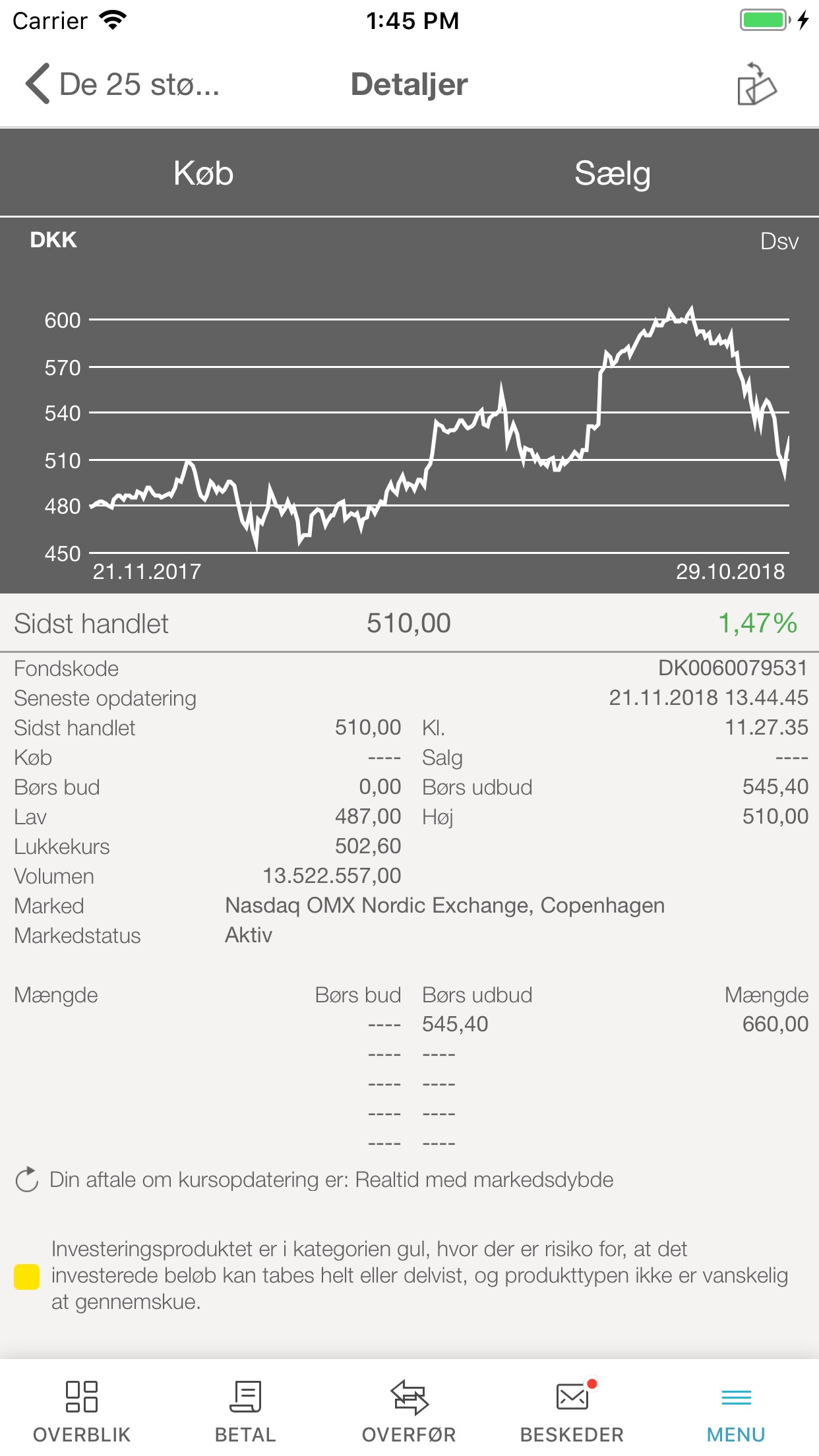 Vestjysk Bank Screenshot