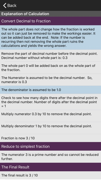 Fractions/Decimals/Fractions