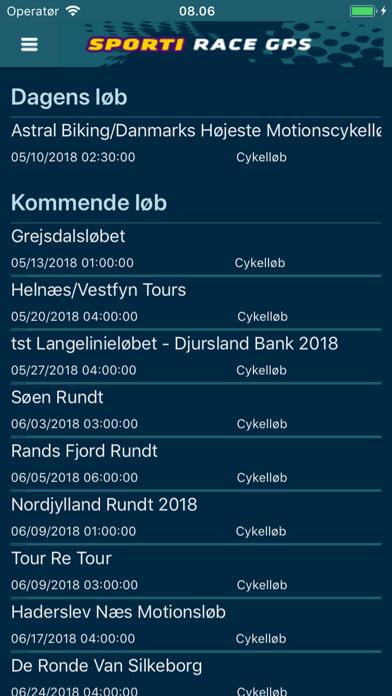 SPORTI Race GPS screenshot two