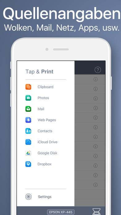 Screenshot for Tap & Print - Dokument App in Austria App Store