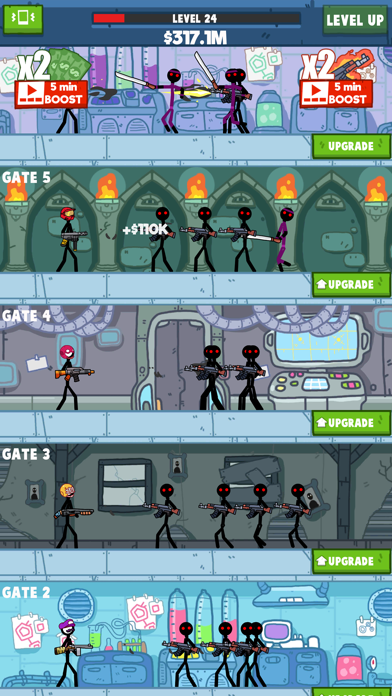 Idle Stickman screenshot 4