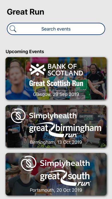 Great Run: Running Events screenshot one