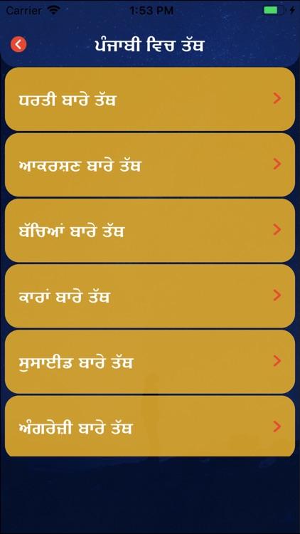 Punjabi Facts & Punjabi Status