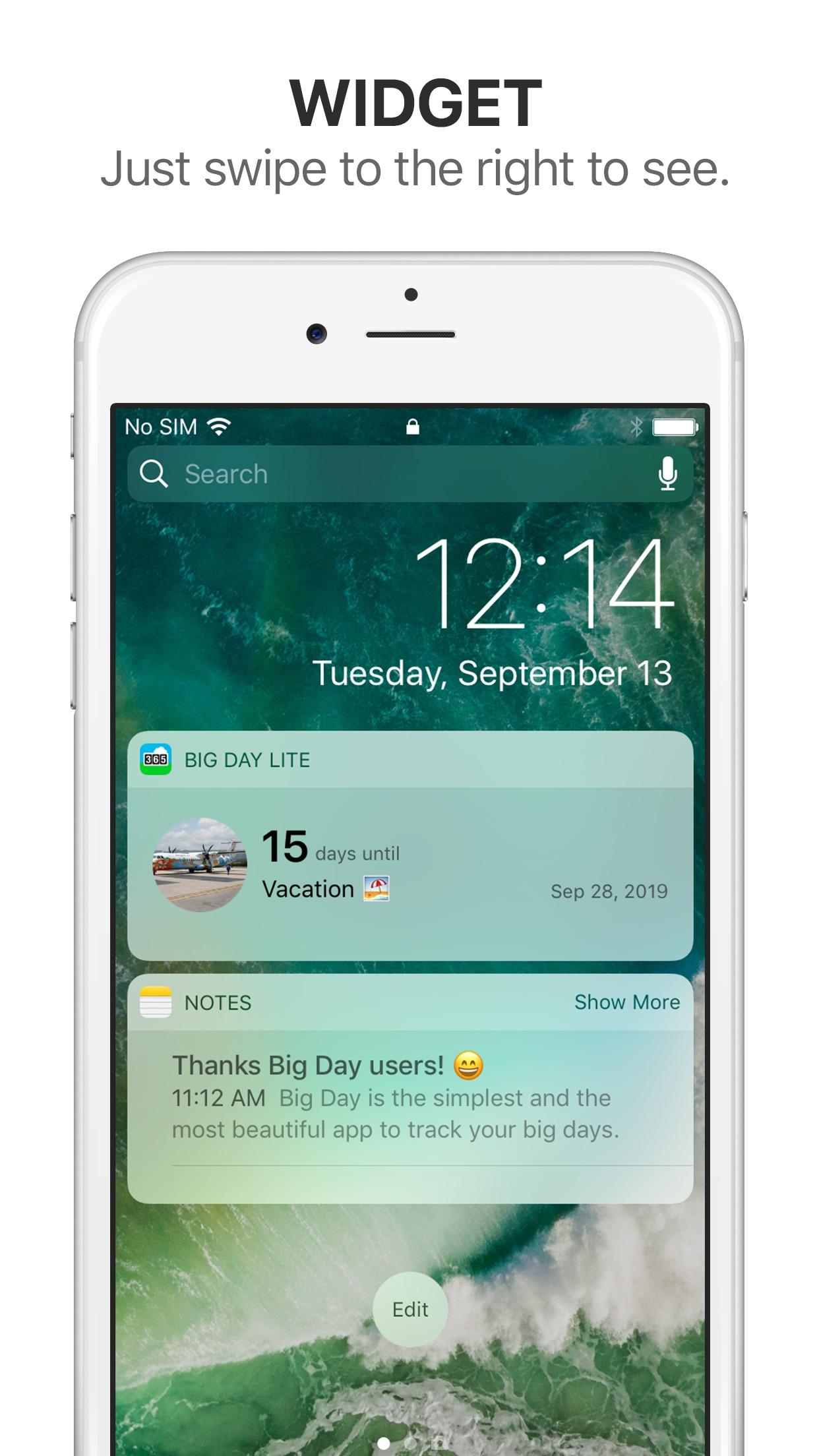 Big Day Lite - Event Countdown Screenshot