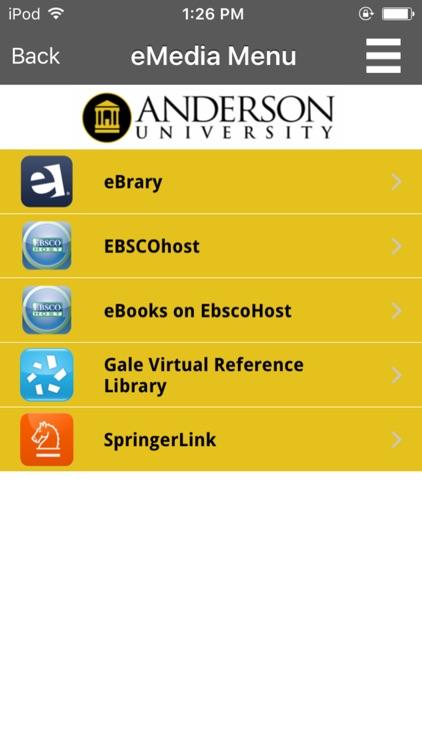 Anderson Univ - Thrift Library screenshot-3