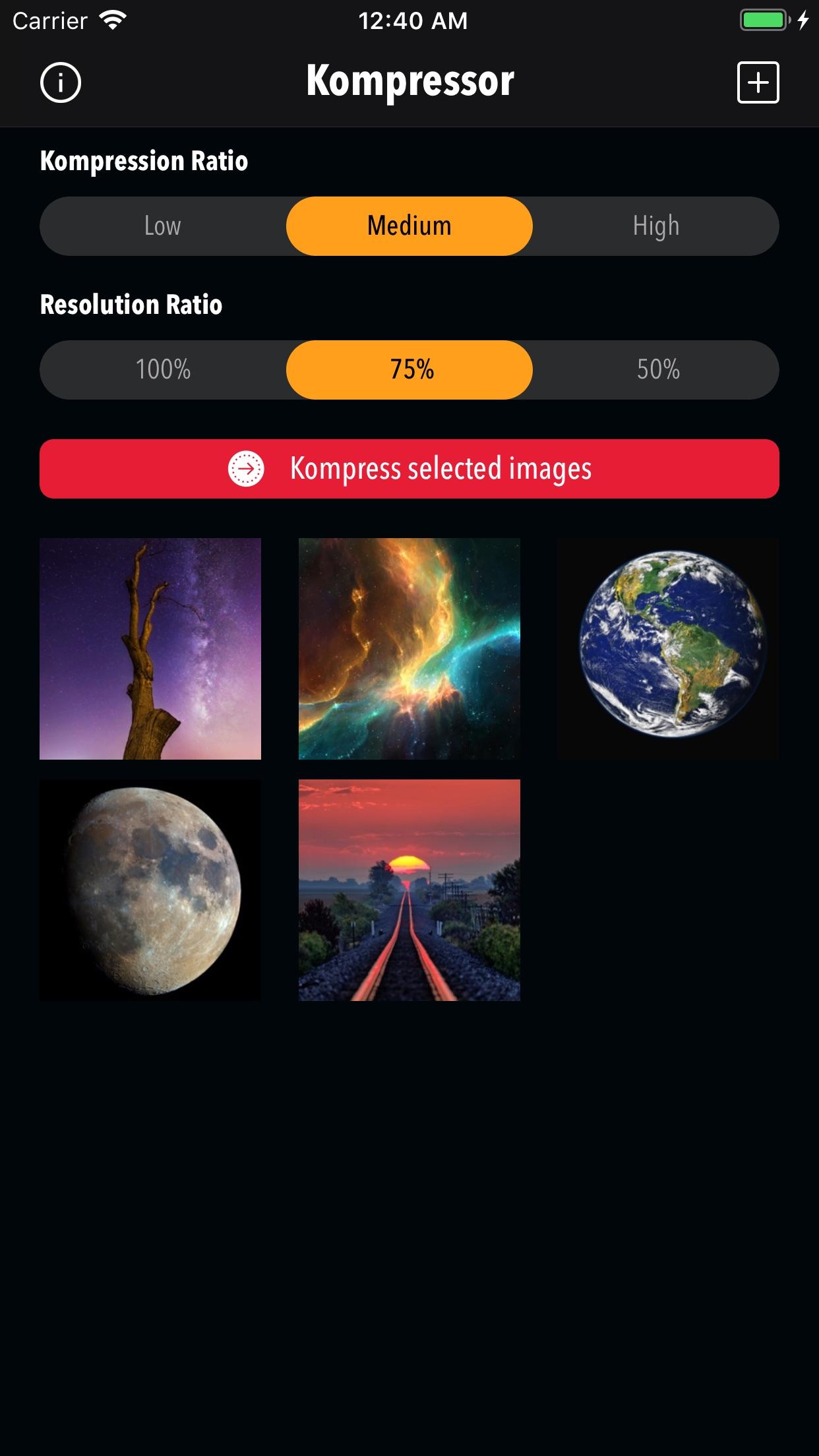 Screenshot do app Kompressor - Compress images