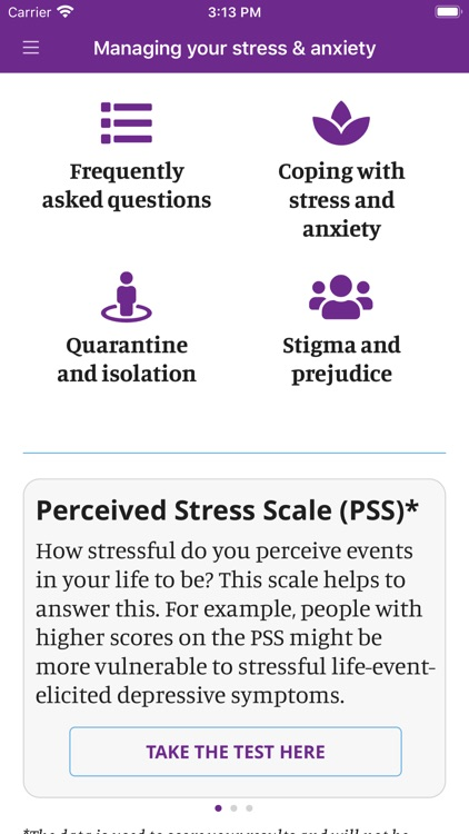 Managing your stress & anxiety