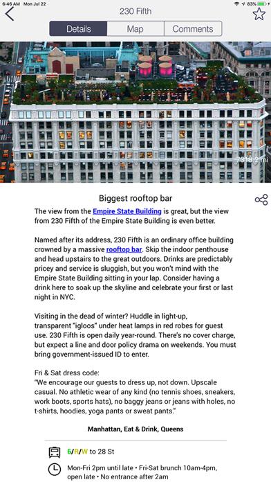 New York City Essential Guide review screenshots