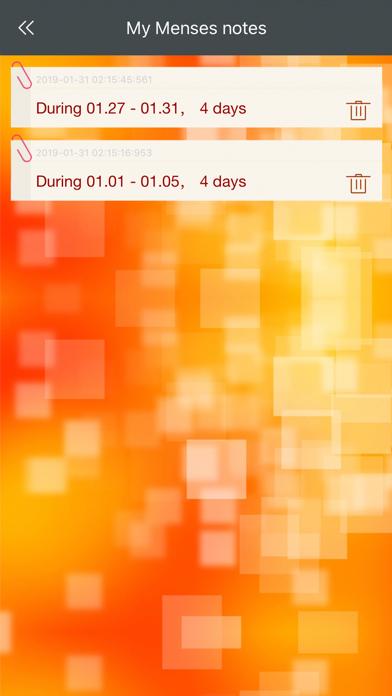Menstrual Period Tracker V screenshot 3