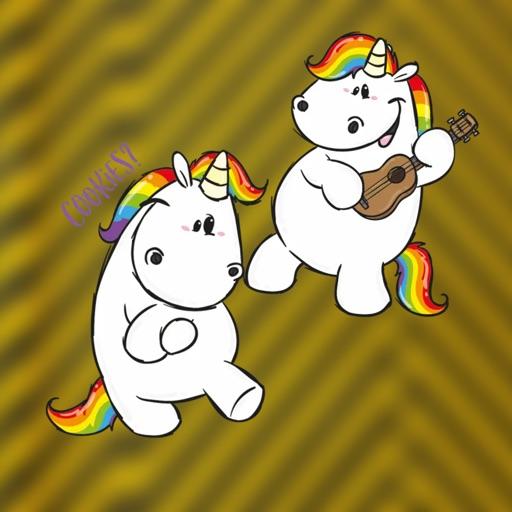 Pummeleinhorn Unicorn Stickers