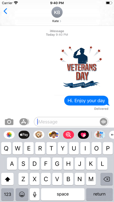 Happy Veterans Day Stickers screenshot 3