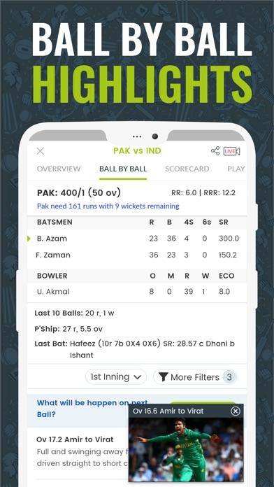 Screenshot for Cricingif-Live Cricket Scores in Pakistan App Store