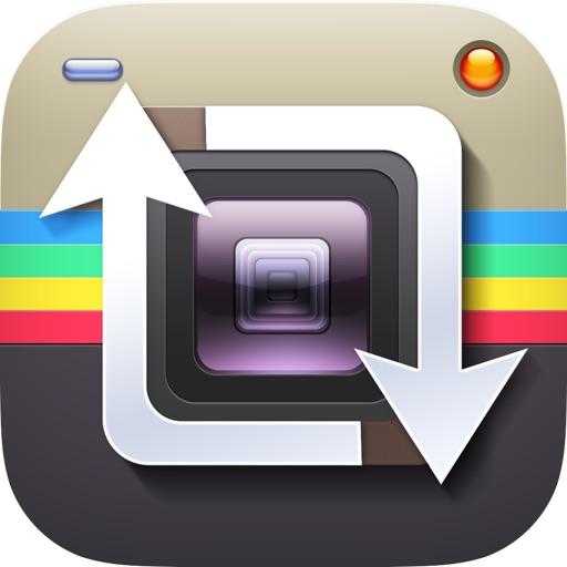 Repost for Instagram' app logo