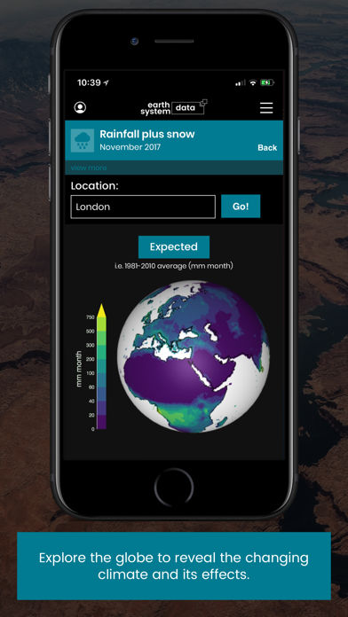 Earth System Data screenshot two