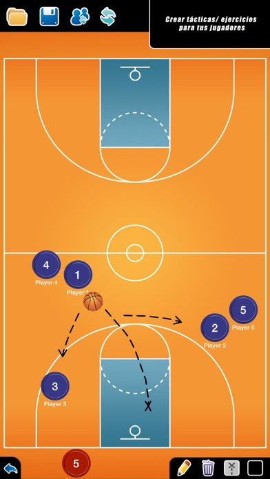 Screenshot for Pizarra Táctica Baloncesto in Spain App Store